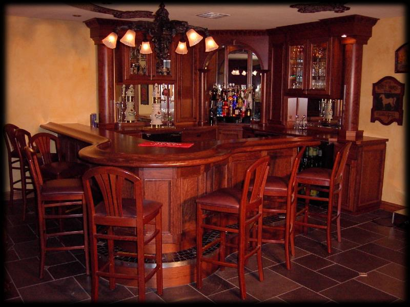 Milwaukee woodwork custom home bars - Bars for house ...